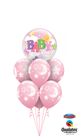 Baby Girl Stars & Moons Balloons