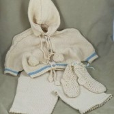 Baby Hand Knit Boys Sweater Set II