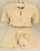 Baby Hand Knit Girls Sweater Set