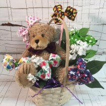 Baby Holidays Hair Bow Basket Great gift for baby or toddler girl!