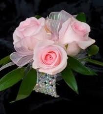 Baby Pink Roses Wristlet