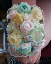 Baby Sock Corsage BabyShower