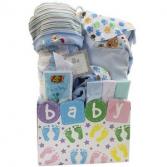 Baby Steps Blue Giftbasket
