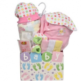 Baby Steps Pink Giftbasket