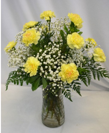 CARNATIONS TO PLEASE FRESH VASE DESIGN