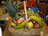 Babybel and fruit basket