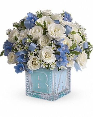 Baby's block Baby bouquet