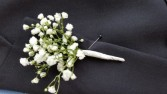 Baby's breath boutonniere  Boutonniere