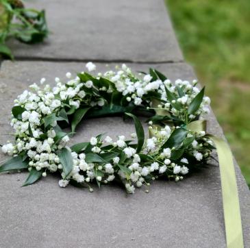 Baby's Breath & Greens Floral Crown