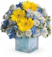 Baby's First Block - Blue      T34-2 fresh keepsake arrangement