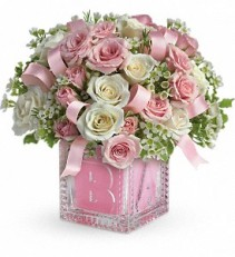 Baby's First Block by Teleflora - Pink