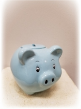 Baby's First Piggy Bank Boy Add on Item
