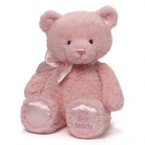 Baby's First Teddy Gund Pink or Blue Plush Animal in Benbrook, TX | BENBROOK FLORAL LLC.