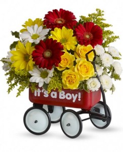 Baby's First Wagon Baby Arrangement in Gladewater, TX | Gladewater Flowers & More