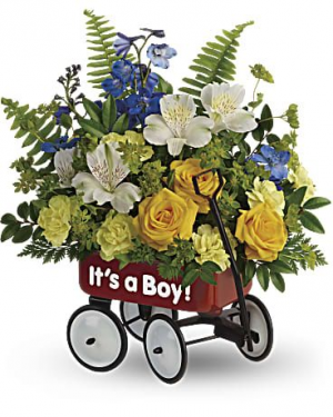 BABY'S FIRST WAGON BOY  in Fort Lauderdale, FL | ENCHANTMENT FLORIST
