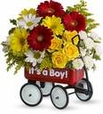 Baby's First Wagon (Boy) or (Girl) Baby Boy or Girl Arrangement
