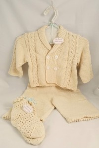 Baby Hand Knit Boys Sweater Set