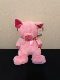 Baby's Little Piggy Stuffed Plush with Rattle