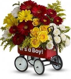 Baby's Wow Wagon Boy Bouquet