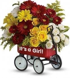 Baby's Wow Wagon Girl Bouquet