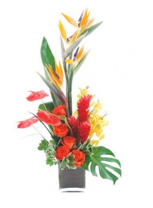 BACK TO THE ISLAND  one-side arrangement in North Fort Myers, FL | North Fort Myers Florist