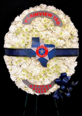 Badge of Honor Police Floral Badge