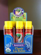 Badger Co. Lip Balm Ginger & Lemon