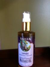 Badger Company Lavender Massage Oil