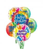 Bag o' Helium Birthday Balloons