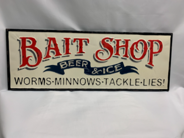 Bait Shop Full Metal Sign