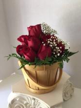 Bakers Dozen Rose Basket