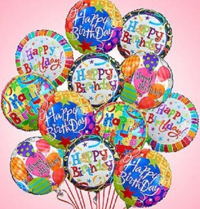 One Dozen  Happy Birthday Balloon Bouquet  in Winter Springs, FL | WINTER SPRINGS FLORIST AND GIFTS