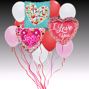 Balloon Bouquet - Love  in Rossville, GA | Ensign The Florist