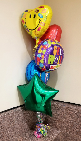 Balloon Cluster Medium/Candy Base Balloons in Wichita, KS | Via Christi Flower & Gift Shop