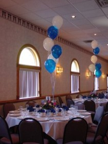 Balloon Party -Blue and White BLW6 Balloons