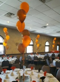 Balloon Party-Orange and Brown OBR6 Balloons-Latex