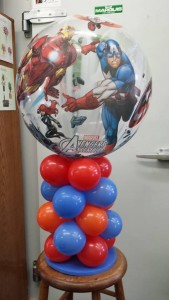 Balloon Table Arrangement for him Balloons
