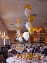 Gold and white Balloon Party GW 6 Balloons-latex