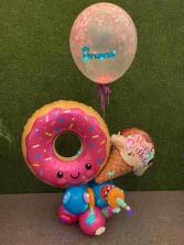 Balloons Bouquet Donut