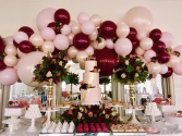 Balloons & Flower Designs  In Collaboration with Parties 'N' More