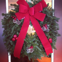 Balsam Wreath Decorated