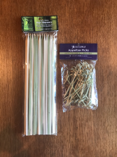 Bamboo Flat Skewers and Bamboo Appetizer Picks