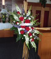 Bamboo Tribute Cross Standing Spray
