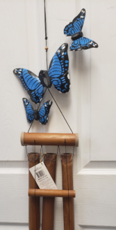 BAMBOO WINDCHIME with BUTTERFLIES gift item