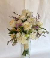 A White & Seeded Eucalyptus Bouquet