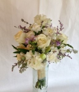 A White & Seeded Eucalyptus Bouquet