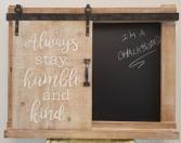 Barn Door Chalkboard