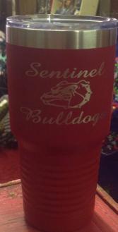 Sentinel bulldog red tumblers Bulldog gift