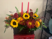 Bartlett Florist candle deluxe Holiday cheers with fall in mind