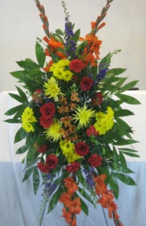 Bartlett Florist Standing Spray #1 Sympathy